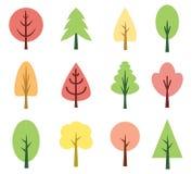 χαριτωμένα δέντρα Στοκ εικόνα με δικαίωμα ελεύθερης χρήσης