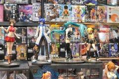 Χαριτωμένα αναμνηστικά αγαθών χαρακτήρα κουκλών αριθμού Manga anime Στοκ εικόνες με δικαίωμα ελεύθερης χρήσης