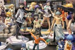 Χαριτωμένα αναμνηστικά αγαθών χαρακτήρα κουκλών αριθμού Manga anime Στοκ Εικόνα