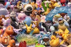 Χαριτωμένα αναμνηστικά αγαθών χαρακτήρα κουκλών αριθμού manga Pokemon anime Στοκ Εικόνες