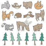 Χαριτωμένα δασικά ζώα Στοκ Εικόνα