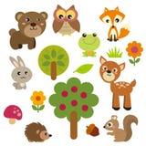 Χαριτωμένα δασικά ζώα Στοκ Εικόνες