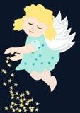 χαριτωμένα αστέρια αγγέλο Στοκ Εικόνα