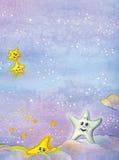 Χαριτωμένα αστέρια Χριστουγέννων απεικόνιση αποθεμάτων