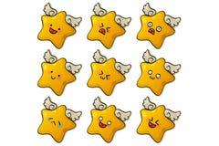 χαριτωμένα αστέρια διανυσματική απεικόνιση