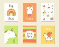 Χαριτωμένα γενέθλια doodle, κόμμα, κάρτες ντους μωρών Στοκ εικόνες με δικαίωμα ελεύθερης χρήσης