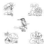 Χαριτωμένα γραμματόσημα Animalia Στοκ Φωτογραφίες