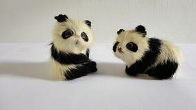 Χαριτωμένα διακοσμητικά εύθυμα μικροσκοπικά pandas Στοκ εικόνες με δικαίωμα ελεύθερης χρήσης