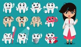 Χαριτωμένα δόντια Στοκ φωτογραφίες με δικαίωμα ελεύθερης χρήσης