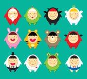 χαριτωμένα εικονίδια doodle Στοκ Εικόνες
