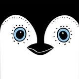 Χαριτωμένα ζωικά επικεφαλής αστεία κινούμενα σχέδια Penguin ελεύθερη απεικόνιση δικαιώματος