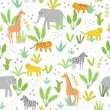 Χαριτωμένα ζώα στη ζούγκλα Στοκ εικόνα με δικαίωμα ελεύθερης χρήσης