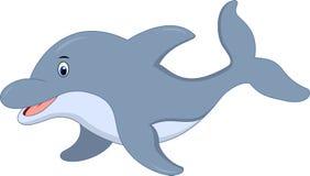 Χαριτωμένα κινούμενα σχέδια δελφινιών ελεύθερη απεικόνιση δικαιώματος