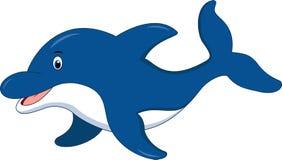 Χαριτωμένα κινούμενα σχέδια δελφινιών διανυσματική απεικόνιση