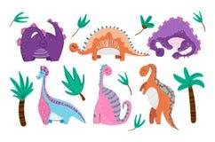 Χαριτωμένα κινούμενα σχέδια Dino ελεύθερη απεικόνιση δικαιώματος