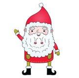 Χαριτωμένα κινούμενα σχέδια Άγιος Βασίλης με την πλεξίδα Στοκ φωτογραφία με δικαίωμα ελεύθερης χρήσης