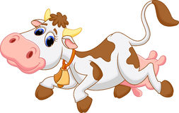 Χαριτωμένα κινούμενα σχέδια αγελάδων Στοκ εικόνα με δικαίωμα ελεύθερης χρήσης