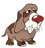 Χαριτωμένα κινούμενα σχέδια απεικόνισης σκυλιών κυνηγιού Στοκ φωτογραφία με δικαίωμα ελεύθερης χρήσης
