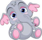 Χαριτωμένα κινούμενα σχέδια ελεφάντων μωρών Στοκ εικόνα με δικαίωμα ελεύθερης χρήσης