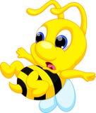 Χαριτωμένα κινούμενα σχέδια μελισσών Στοκ εικόνες με δικαίωμα ελεύθερης χρήσης