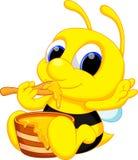 Χαριτωμένα κινούμενα σχέδια μελισσών Στοκ Εικόνα