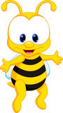 Χαριτωμένα κινούμενα σχέδια μελισσών Στοκ φωτογραφία με δικαίωμα ελεύθερης χρήσης