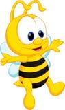 Χαριτωμένα κινούμενα σχέδια μελισσών Στοκ Φωτογραφία