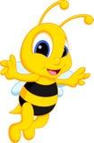 Χαριτωμένα κινούμενα σχέδια μελισσών Στοκ Φωτογραφίες