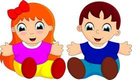 Χαριτωμένα κινούμενα σχέδια μωρών Στοκ εικόνα με δικαίωμα ελεύθερης χρήσης