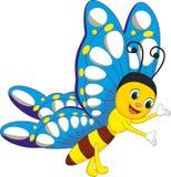 Χαριτωμένα κινούμενα σχέδια πεταλούδων Στοκ Εικόνα