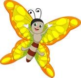 Χαριτωμένα κινούμενα σχέδια πεταλούδων Στοκ Εικόνες