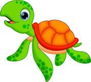 Χαριτωμένα κινούμενα σχέδια χελωνών Στοκ εικόνα με δικαίωμα ελεύθερης χρήσης