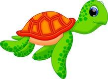 Χαριτωμένα κινούμενα σχέδια χελωνών Στοκ φωτογραφίες με δικαίωμα ελεύθερης χρήσης
