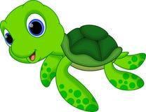 Χαριτωμένα κινούμενα σχέδια χελωνών Στοκ εικόνες με δικαίωμα ελεύθερης χρήσης