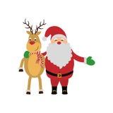 Χαριτωμένα κινούμενα σχέδια Χριστουγέννων ελεύθερη απεικόνιση δικαιώματος
