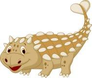 Χαριτωμένα κινούμενα σχέδια ankylosaurus δεινοσαύρων Στοκ Φωτογραφία