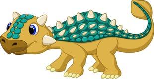 Χαριτωμένα κινούμενα σχέδια ankylosaurus Στοκ Φωτογραφίες
