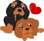 Χαριτωμένα κινούμενα σχέδια dachshunds Στοκ Φωτογραφίες