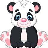 Χαριτωμένα κινούμενα σχέδια panda μωρών Στοκ εικόνα με δικαίωμα ελεύθερης χρήσης