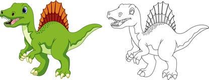 Χαριτωμένα κινούμενα σχέδια triceratops Στοκ Εικόνες