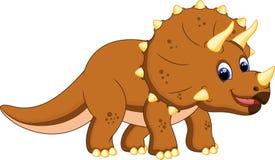 Χαριτωμένα κινούμενα σχέδια triceratops Στοκ Εικόνα