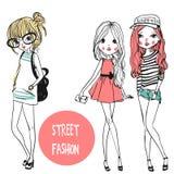 Χαριτωμένα κορίτσια μόδας Στοκ Εικόνες