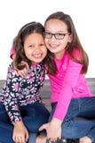χαριτωμένα κορίτσια δύο Στοκ φωτογραφίες με δικαίωμα ελεύθερης χρήσης
