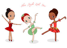 Χαριτωμένα μικρά ballerinas διανυσματική απεικόνιση