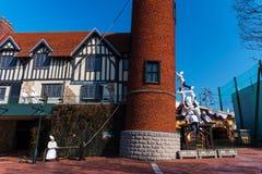 Χαριτωμένα μνημεία αρχιμαγείρων στο εργοστάσιο σοκολάτας Sapporo Στοκ φωτογραφία με δικαίωμα ελεύθερης χρήσης