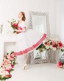 Χαριτωμένα λουλούδια εκμετάλλευσης ballerina Στοκ φωτογραφία με δικαίωμα ελεύθερης χρήσης
