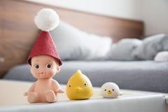 Χαριτωμένα παιχνίδια μωρών λουτρών στοκ εικόνα