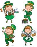 Χαριτωμένα παιδιά ημέρας του ST Patricks Στοκ Εικόνες
