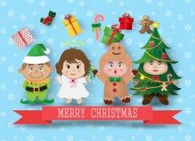Χαριτωμένα παιδιά Χριστουγέννων Στοκ Εικόνα