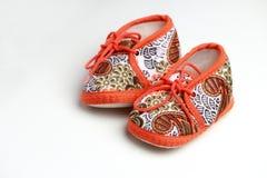 χαριτωμένα παπούτσια μωρών Στοκ Φωτογραφίες